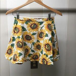 American apparel denim sunflower skirt